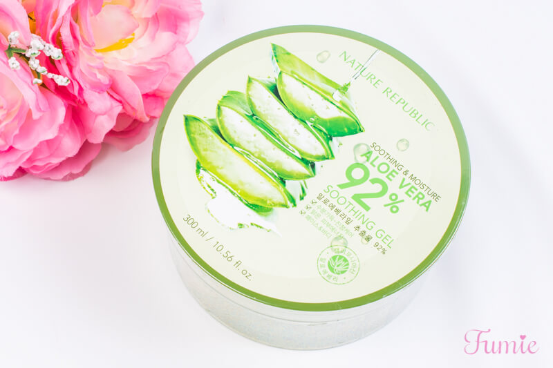 SOOTHING&MOISTURE ALOE VERA 92% SOOTHING GEL 本体正面