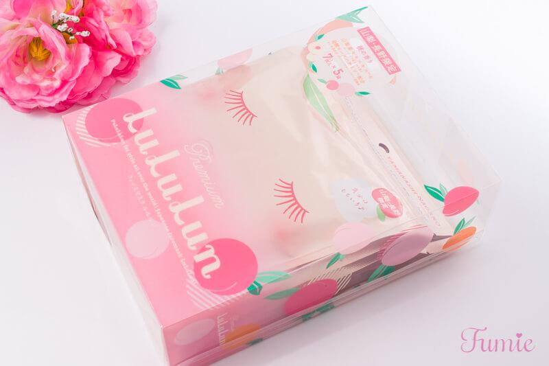 山梨・長野のプレミアムルルルン(桃の香り) 7枚入り×5袋 パッケージ正面