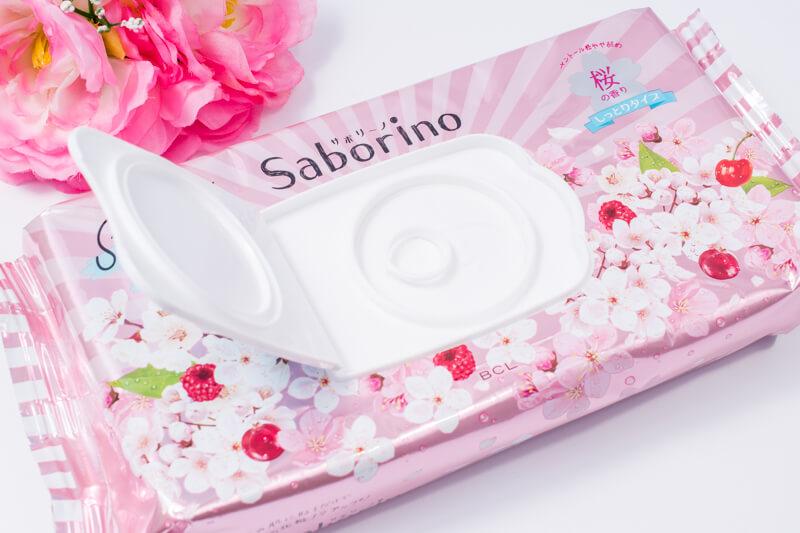 サボリーノ 目ざまシート しっとりタイプ(桜の香り) 本体ふたを開けてみた